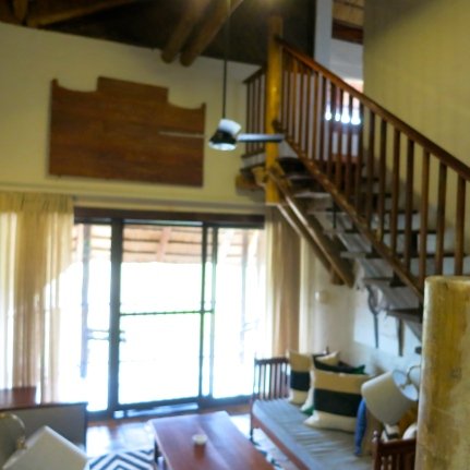View of the Deluxe Suite Lounge and Bedroom on the Loft.