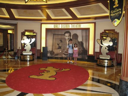 Walt Disney Theatre featured Disney Classics. Apart from this, there was also a Movie Theatre with eat all you can Popcorn as you enjoy new Disney Productions! Kristiana was such a good baby, she was just asleep as we all watched!