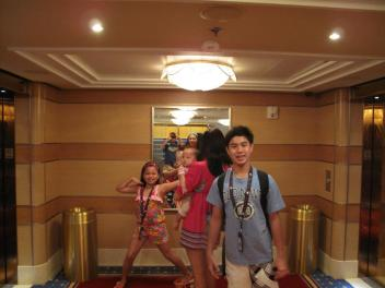 Raring to go down for another day of fun at Castaway Cay!
