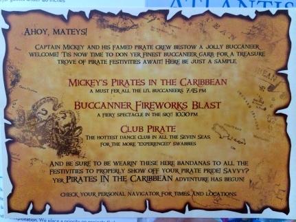 Invitation to the Pirate's Night