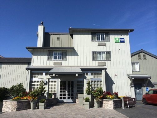 We enjoyed our stay at the Holiday Inn Express Monterey - Cannery Row. Service was efficient, rooms were clean and spacious (though bath was quite small), breakfast was excellent and the location was perfect!