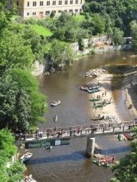 The Vltava River continues to flow through this region.