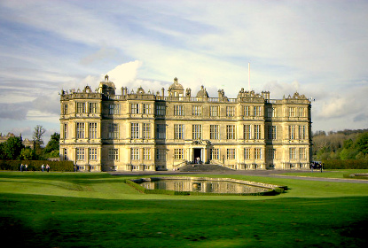 Longleat is an English stately home and the seat of the Marquesses of Bath. It is a leading and early example of the Elizabethan prodigy house. It is adjacent to the village of Horningsham and near the towns of Warminster and Westbury in Wiltshire and Frome in Somerset. It is noted for its Elizabethan country house, maze, landscaped parkland and safari park.