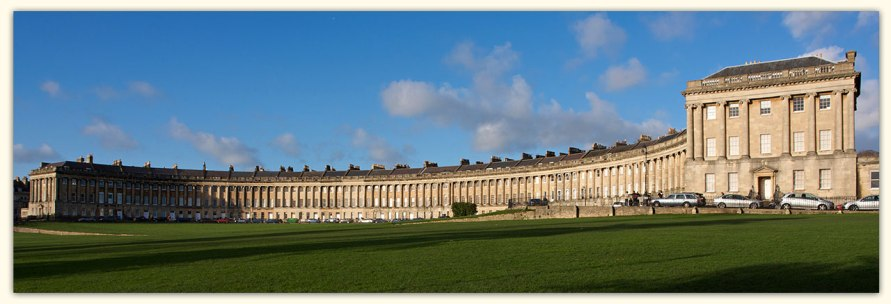 The Royal Crescent, one of Bath's most iconic landmarks, was built between 1767 and 1775 and designed by John Wood the Younger. This impressive landmark forms a sweeping crescent of 30 Grade I Listed terrace houses, and is without doubt one of the greatest examples of Georgian architecture anywhere in the UK. Today, it is home to the five-star luxury hotel The Royal Crescent (the perfect place for a spa weekend to remember), a museum of Georgian life at No. 1, plus private housing.