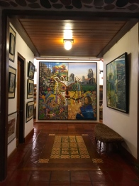 Many of Pacita Abad's paintings are on display as well as those of prominent Artist friends.