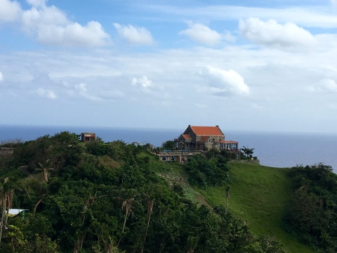 """Fundacion Pacita is one of the best boutique hotels in the Philippines. A Batanes experience is not complete without enjoying the """"Wuthering Heights"""" ambiance of Fundacion Pacita -- it is located on top of a cliff with a 270-degree view of the sea, mountains and the sky."""