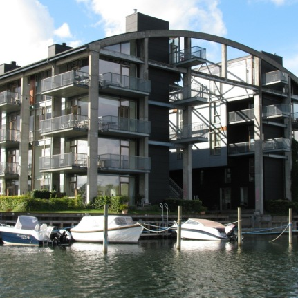 This former boat repair facility was converted to some of the most expensive apartments in Copenhagen.