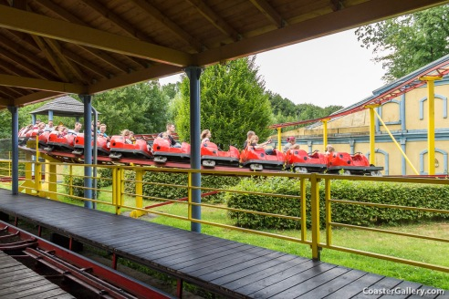 Of course, we had to sample some rides. We rode the Odin Express!