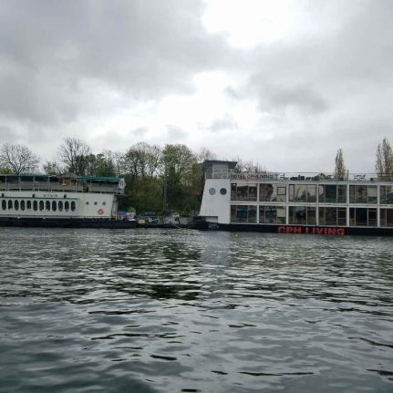 Check out the float CPH Boat Hotel.
