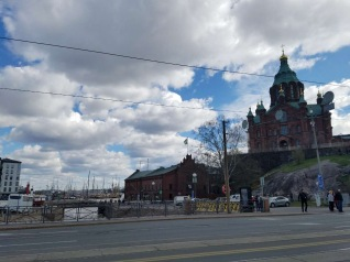 Uspensky Cathedral. With its golden cupolas and redbrick facade, the church is one of the clearest symbols of the Russian impact on Finnish history.