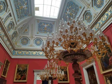 Love the Ceiling's ornate details.