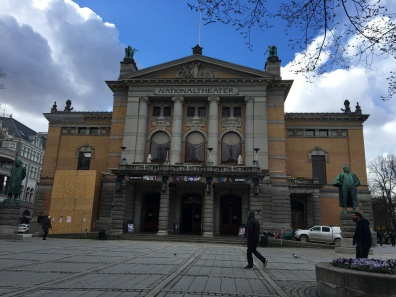 The National Theatre in Oslo is one of Norway's largest and most prominent venues for performance of dramatic arts.