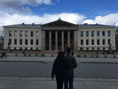 Dad encouraging this one to study here. The University of Oslo, until 1939 named the Royal Frederick University , is the oldest university in Norway. The Academic Ranking of World Universities has ranked it the 58th best university in the world and the third best in the Nordic countries. In 2015, the Times Higher Education World University Rankings ranked it the 135th best university in the world and the seventh best in the Nordics. While in its 2016, Top 200 Rankings of European universities, the Times Higher Education listed the University of Oslo at 63rd, making it the highest ranked Norwegian university. Wikipedia