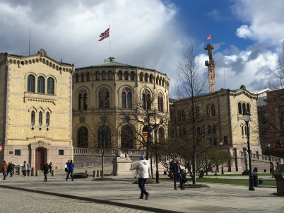 The Parliament of Norway Building.