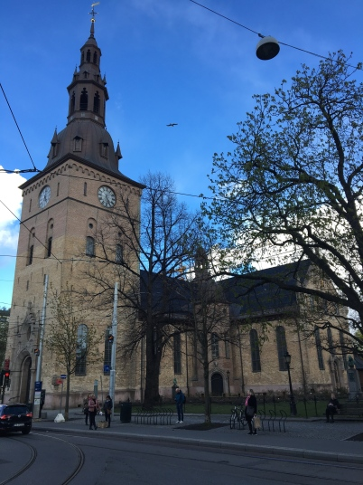 The Oslo Cathedral is the main church for the Church of Norway Diocese of Oslo, and is used for weddings and funerals by the Norwegian Royal Family and the Norwegian Government. It was first consecrated in 1697, and in 1950 it was restored back to its original baroque interior.
