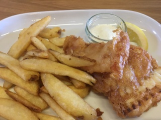 Had to sample their Halibut Fish and Chips!