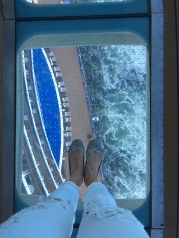 Braving the Sea Walk. Hovering 128 feet above the ocean. I froze before I could take the next step.