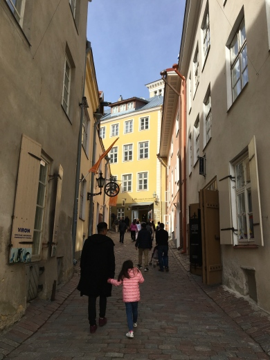 """From the church, we climbed the steep, cobbled, Lühike jalg (""""Short Leg Lane""""). It was a narrow street lined with quality Estonian craft shops."""
