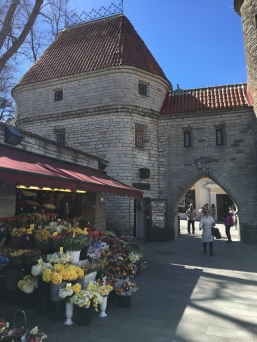These flower stalls were inviting contrasts to the grey medieval walls of Tallinn's Old Town.