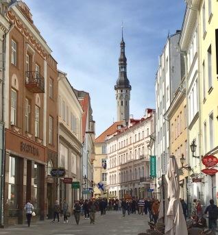 Capuccino views along Viru Street - old Tallinn's busiest and kitschiest shopping street.