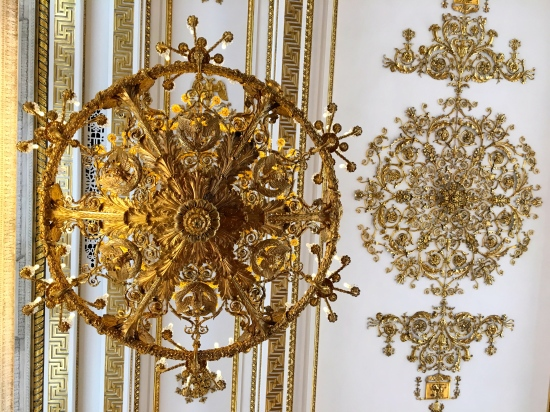Chandelier Opulence at the Hermitage.