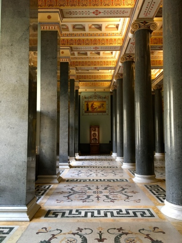 Beautiful Marble Columns provide a striking distraction to the actual exhibit of Classic Antiquities dating back to the 12th century.
