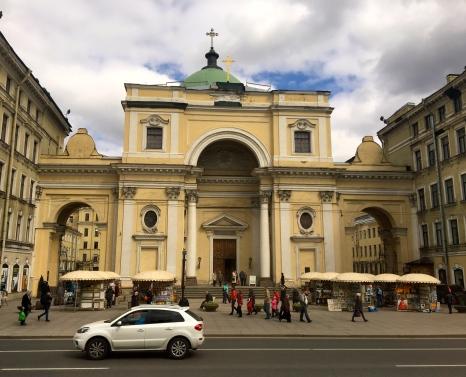Drove past the Catholic Church of St. Catherine.