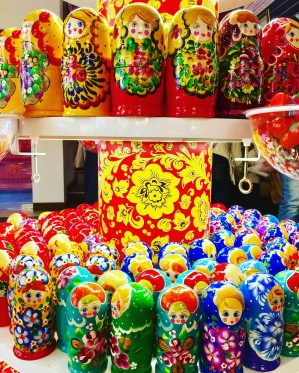 Ended up in the same souvenir store we visited last time. Already on display at home, its hard to resist these colourful Matryoskha Dolls.