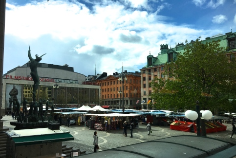Hotorget Market Place. A unique area with great shopping and the opportunity to barter with the local vendors.