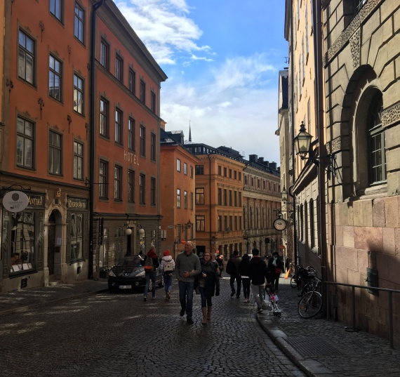 Kopmangatan - Merchant Street. It is probably the oldest street in Stockholm, mentioned as early as the fourteenth century.