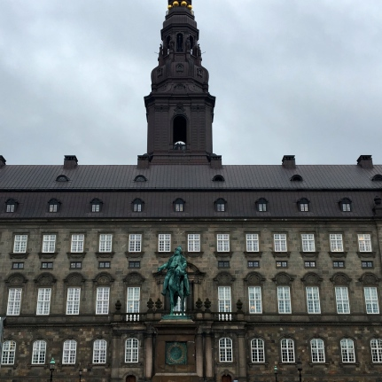 The equestrian statue of King Frederik VII (He ruled in 1848-1863) He was the last Danish monarch of the older Royal branch of the House of Oldenburg and also the last king of Denmark to rule as an absolute monarch .