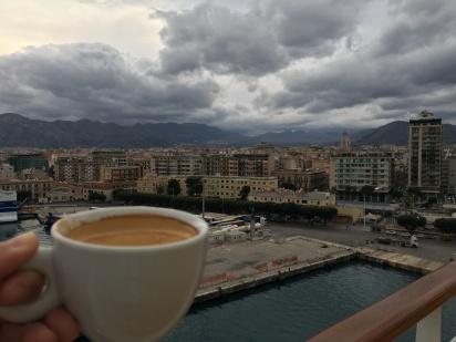 Coffee views as we bid Palermo Adieu