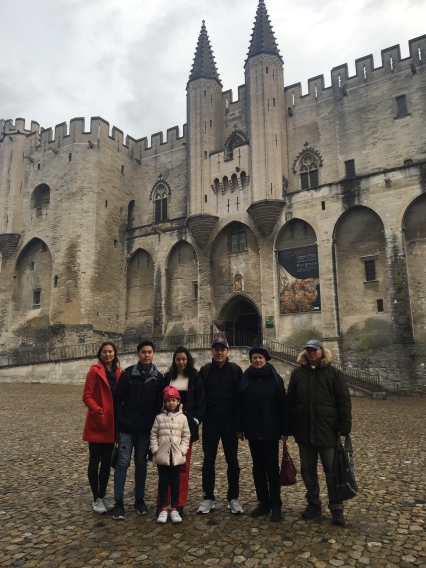 Built in less then 20 years starting in 1335, the Popes' Palace is the amalgamation of two palaces built by two popes: Benedict XII, who built the Old Palace to the east and north, and his successor Clement VI who built the New Palace to the south and west.